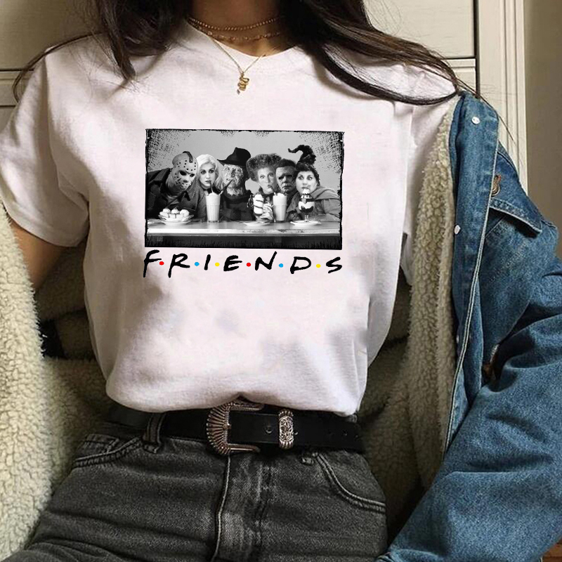 2019 Graphic Friends Horror Movie Witch Hocus Pocus  Print Fashion T-shirt Shirt Happy Halloween Female Tee Shirt Women Tops