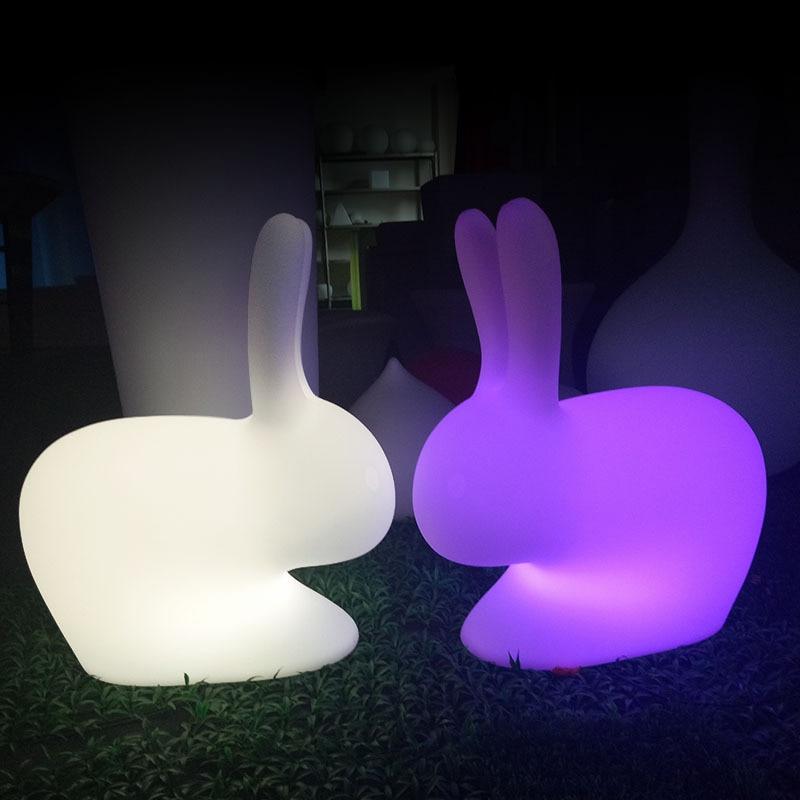 cor rgb pequeno coelho casa decoracao luzes 02