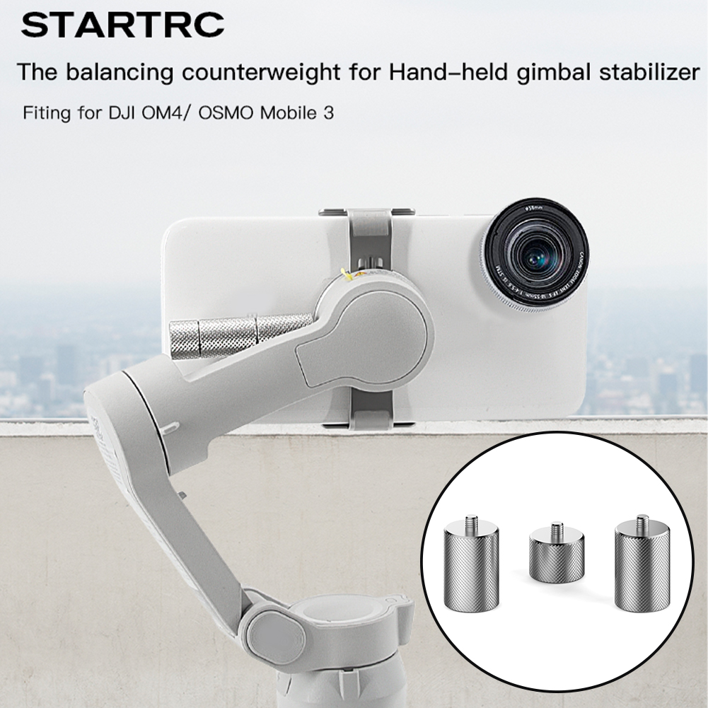 3pcs Gimbal Stabilizer Keep Balance Moment Anamorphic Lens 20g 10g Vlog Filmmaking Counterweight For DJI OSMO Mobile 3 4