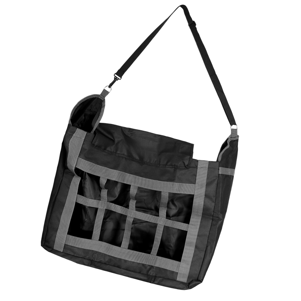 Large Horse Stable Hay Bag Tote, Top Load Slow Feed Hay Net With Front Divider For Horses, Pony, Little Pig