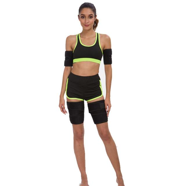 Neoprene Leg Shaper Sauna Sweat Thigh Trimmers Calories Off Anti Cellulite Slimming Legs Fat Thermo Compress Belt Face Lift