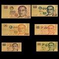 Rh 6 pçs/lote conjunto de dólar de singapura 2 5 10 50 100 1000 ouro 99999 nota para coleção decoração presentes aniversário