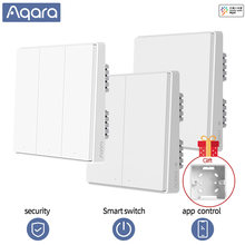 Aqara D1 Smart Switch Wireless Switch Single Fire Wire ZigBee Wireless Wall Switch Smart Home Light Control For Mihome App