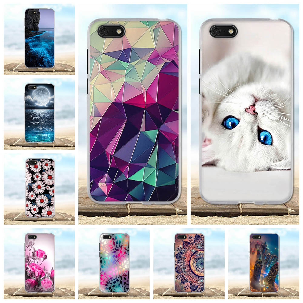 For Huawei Y5 Prime 2018 <font><b>Case</b></font> <font><b>Silicone</b></font> TPU Cover Cute Shell For Huawei Y5 2018 <font><b>Case</b></font> Protective For Huawei <font><b>Honor</b></font> 7A <font><b>7S</b></font> Phone <font><b>Case</b></font> image