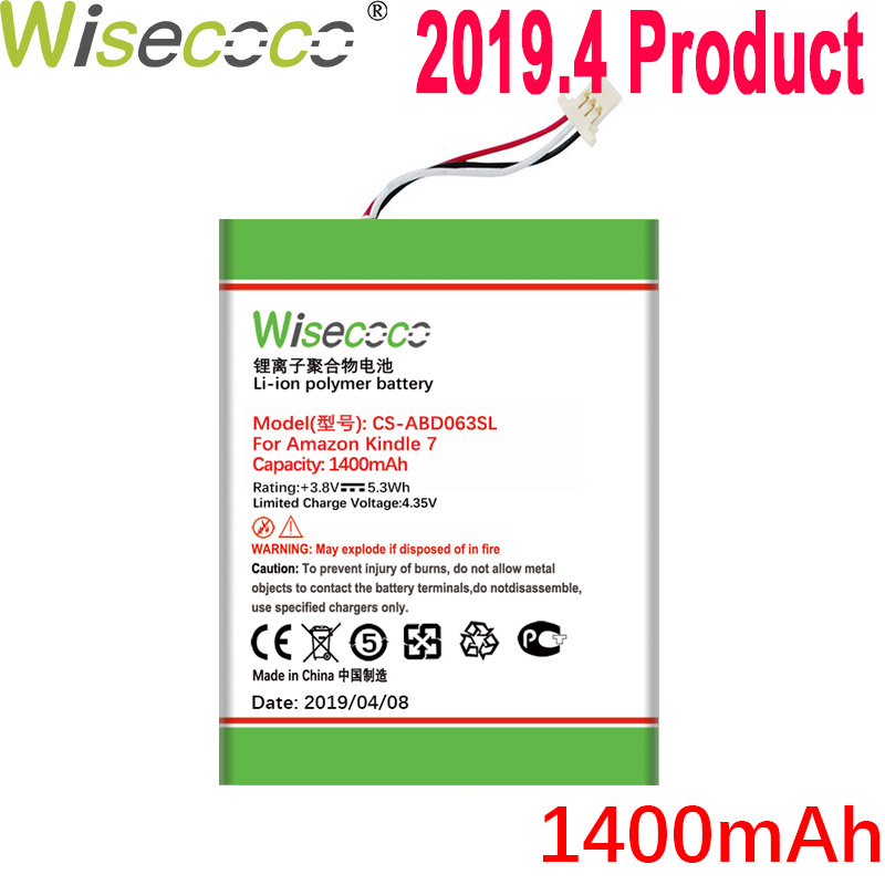 WISECOCO 1400mAh Batterie Für <font><b>Amazon</b></font> kindle 7 7th Gen 6
