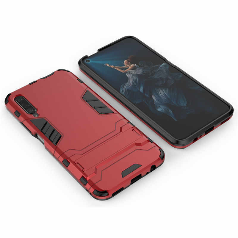 Honor 9X 20 Pro Armor Plastic Silicon Back Cover Mobile Phone Cases for Huawei Y5 Y6 Y7 Y9 Prime 2019 P Smart Z Holder Fundas