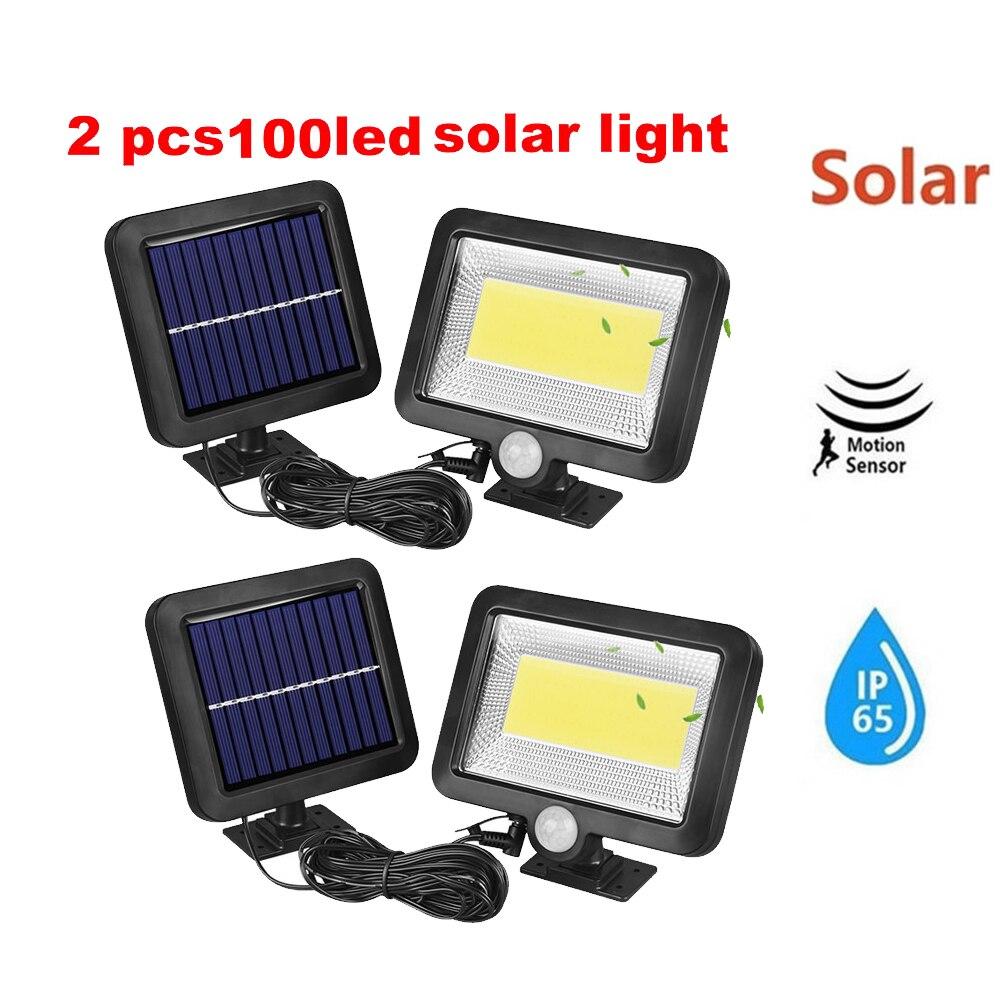 2/4pcs Solar Panel Lamp Garden Led 100/56/30 LEDs Lights Bright Motion Sensor Gardern Outdoor Led Solar Street Light Solar Light