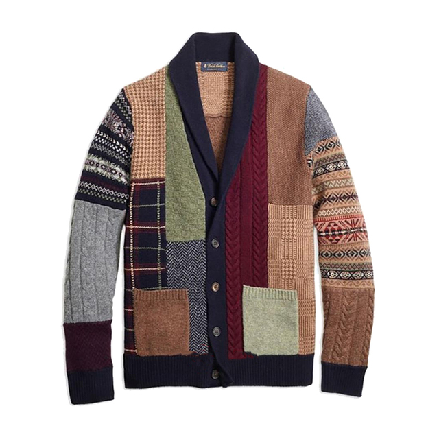 2020 Autumn Winter Mens Cardigan Sweater Coat Patchwork Knitted Outwear With Pocket Male Warm Wool Cardigan Sweater Jumper