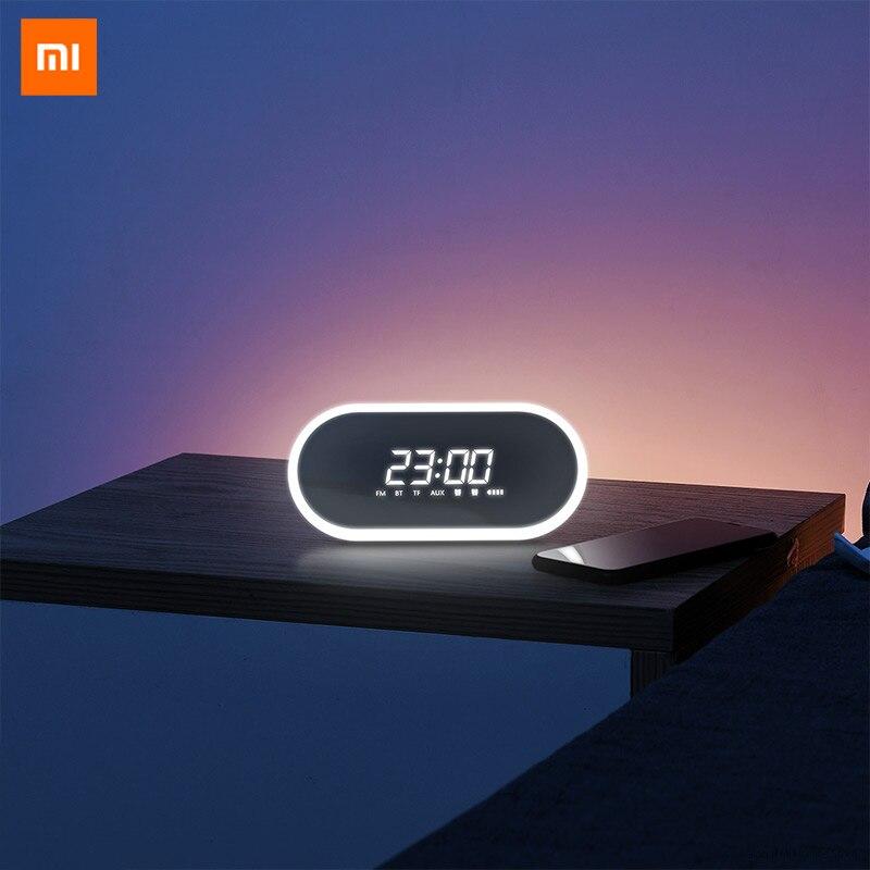 Original Xiaomi Youpin Mijia BASEUS Mini Alarm Clock Wireless Bluetooth Speaker Household Subwoofer Mirror Radio 3D Surround