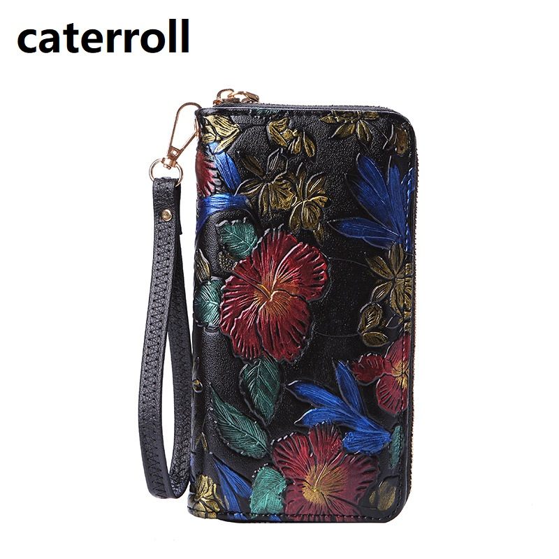 Women Wallets Pu Leather Purse Luxury Brand Ladis Clutch Wallet Long Floral Women Purses Card Holder Wallet