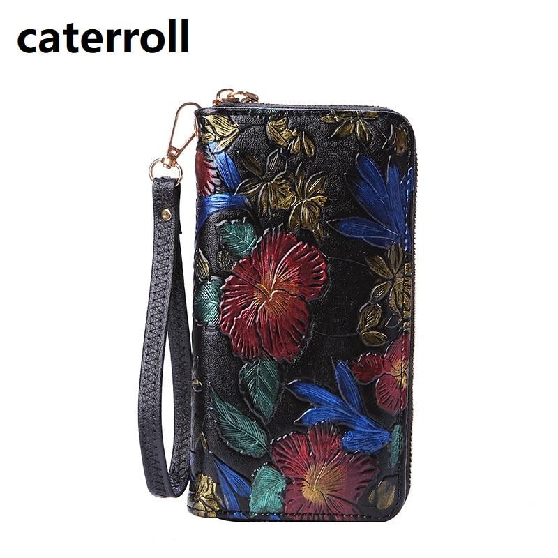 Women Wallets Pu Leather Purse Luxury Brand Ladis Clutch Wallet Long Floral Women Purses Card Holder Wallet