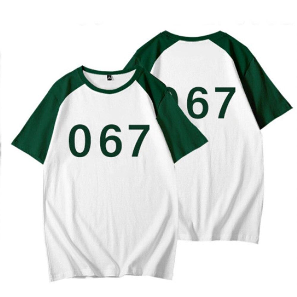 manga curta branco verde traje adereços