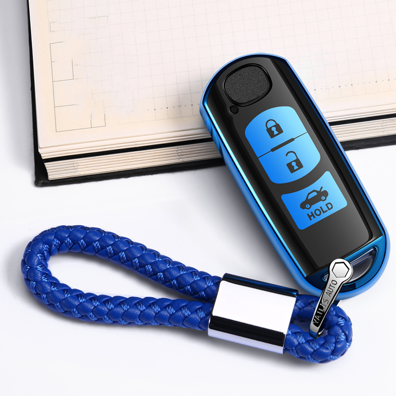 ABS+TPU Car Key Case Cover For <font><b>Mazda</b></font> 2 3 <font><b>5</b></font> 6 Demio <font><b>CX</b></font>-3 <font><b>CX</b></font>-4 <font><b>CX</b></font>-<font><b>5</b></font> <font><b>CX</b></font>-7 CX8 <font><b>CX</b></font>-9 MX5 Axela Atenza 2015 <font><b>2016</b></font> 2017 2018 2019 2020 image