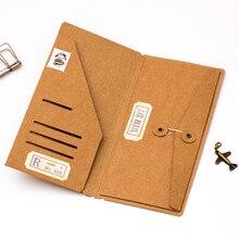 С тех пор крафт Бумага конверт билеты карточки сумка для хранения для Midori путешественников Тетрадь Дневник для заправки зажигалок ретро аксессуары для планировщика