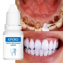 EFERO Teeth Whitening Serum Powder Oral Hygiene Tooth Bleaching Cleaning Serum Remove Plaque Stains with Cotton Swab TSLM1
