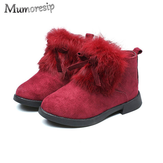 Ankle Boots Warm Cotton Furry Fur