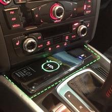 Беспроводное зарядное устройство для телефона Audi A4 B8 B9 A4 Allroad A5 S5 RS5 Q5 15 Вт с портом быстрой зарядки QC3.0 адаптер с держателем