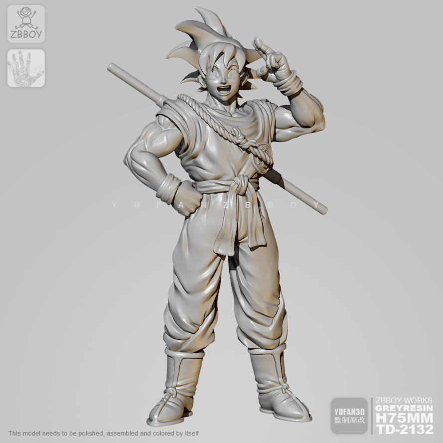 65mm Resin Figure Kits Goku  Model Self-assembled TD-2132