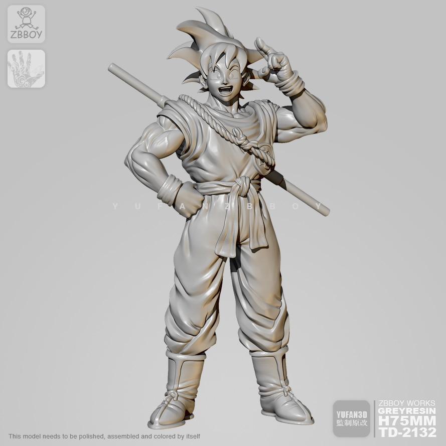65mm Resin Figure Kits Goku  Model Self-assembled TD-2132