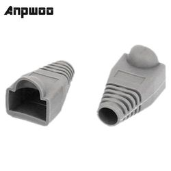 ANPWOO Ethernet Gray Rubber RJ45 Connector Boots Cover Case Protector 50 pieces