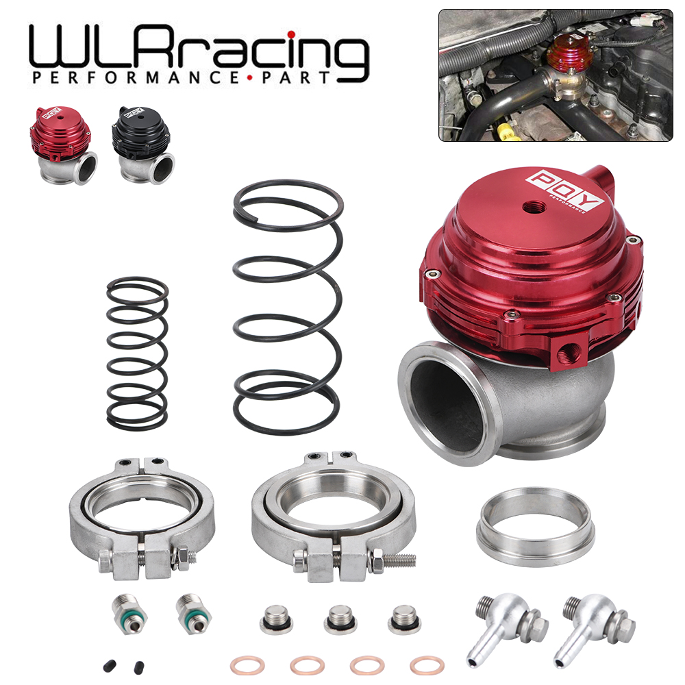 Water cooler 44mm Wastegate external turbo red/blue/black With Flange/Hardware MV-R Water-cooled w/ logo WLRR5834