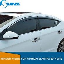 Cửa Sổ Bên Chắn Cho Hyundai Elantra 2017 2018 2019 Cửa Sổ Che Lỗ Thông Hơi Bóng Mặt Trời Mưa Sâu Chống Ồn Vệ Binh SUNZ