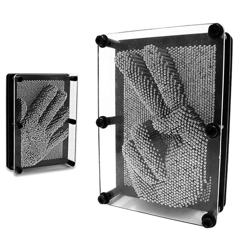 Pinart Rectangular Metal Flexible Pin Painting 3D Fingerprints Cloning Model Lian Mo Educational Toy Small Gifts