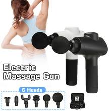 Глубокий массаж пистолет 3 шестерни мышечной ткани массажер облегчение боли Упражнения Терапия Расслабление тела Корректирующее 6 головок с мешком