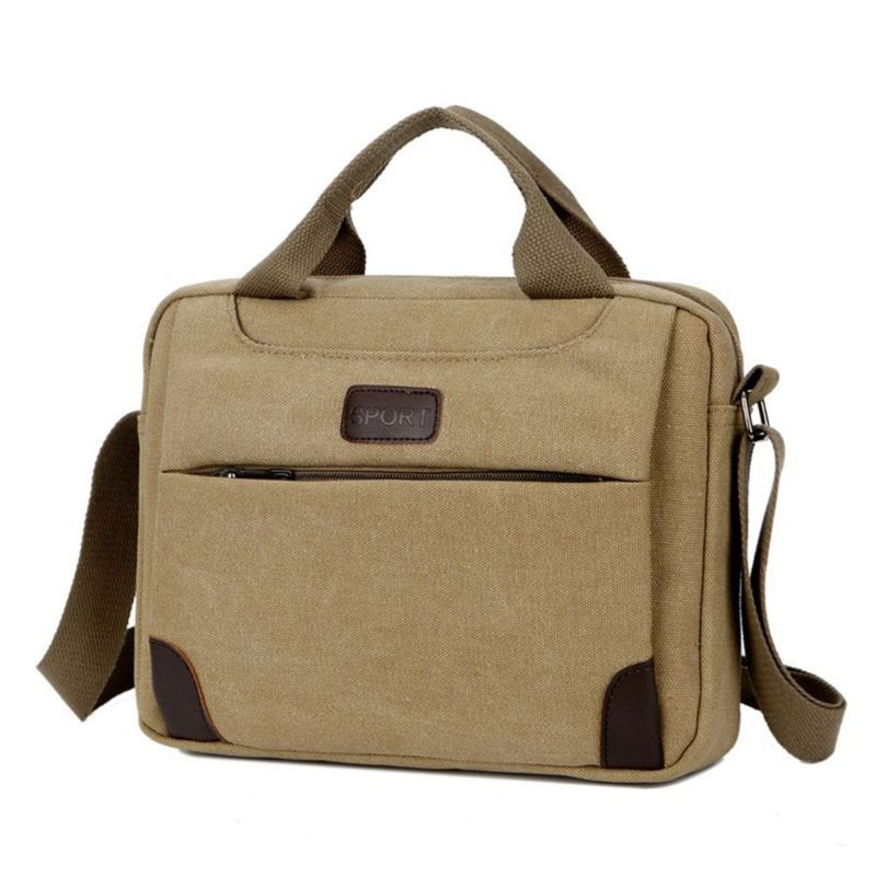 THINKTHENDO Men's Canvas Crossbody Hiking Military Messenger Sling Shoulder Bag Satchel Bags