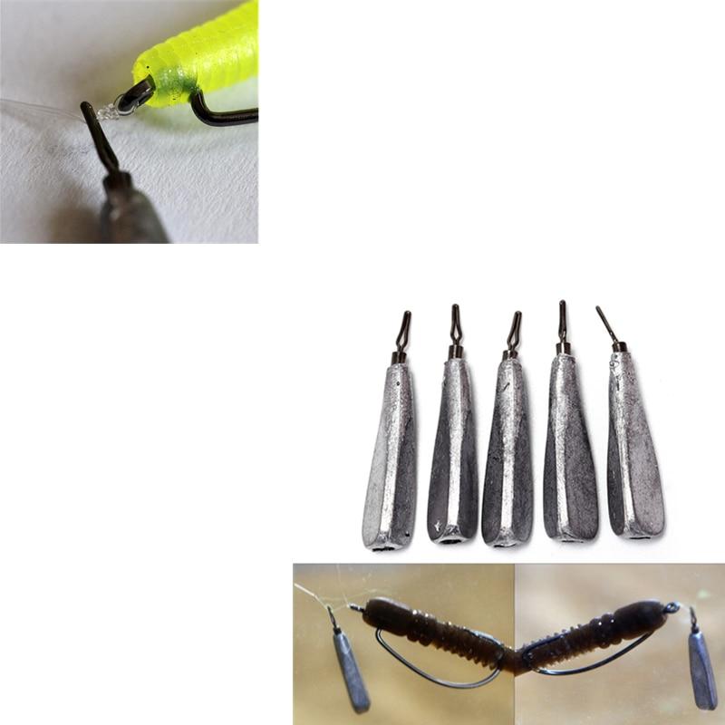 5Pcs//lot water drop shape weights lead fishing sinker fishing accessories tool `