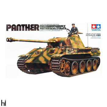 Tamiya 35065 1/35 German Panzerkampfwagen V Panther Ausf.A Medium Tank Military Display Toy Plastic Assembly Building Model Kit