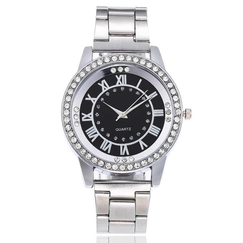 1 adet moda taklidi kadın saatler klasik kadın elmas altın kol saati bayan izle elbise saat kuvars kol saatleri