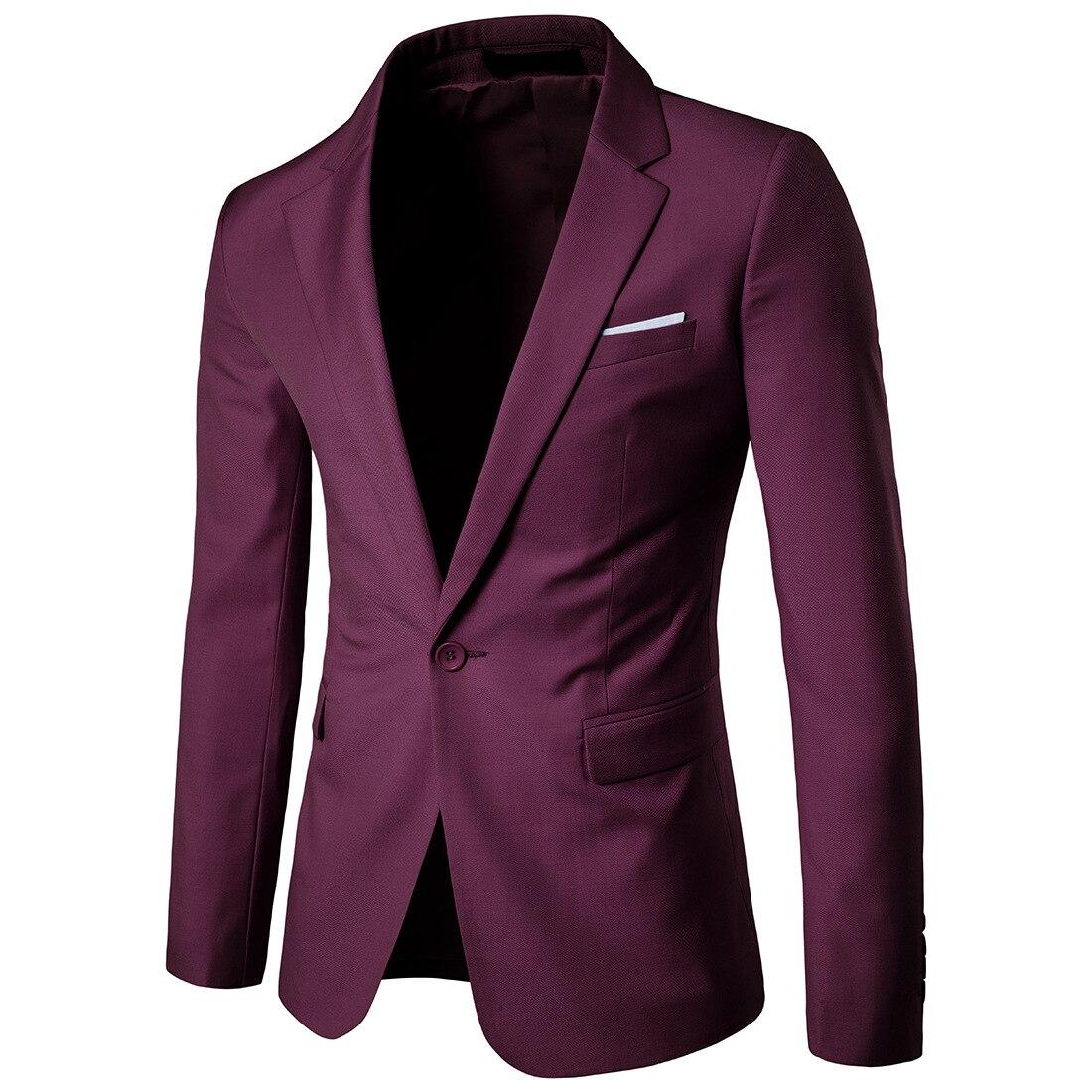 2019 Business Leisure Suit Lang Best Man Wedding One-Button Suit Jacket Men'S Wear Navy Xf001 West