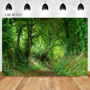 Image 2 - Laeacco Spring Natural Scenery Backgrounds Jungle Forest Wonderland Baby Child Portrait Photography Backdrops Newborn Photocall