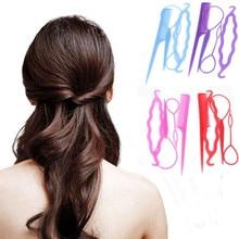 4 Pcs/Set Women Girls Magic Hair Braiding Twist Curler Styling Set Professional Hairpin Holding Braiders Combs