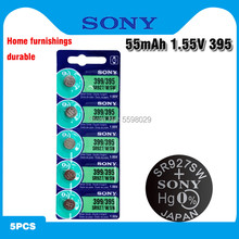 5 pc sony original 395 sr927sw 399 sr927w ag7 lr927 1.55 v botão pilha relógio moeda bateria relógio de pulso baterias feitas no japão