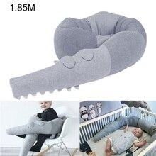 Длинная Подушка 185-250 см, детская подушка из крокодиловой кожи, хлопковая подушка для детской кроватки, ограждение, защитный бампер, игрушки, мягкая кровать, подарок для сна