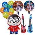 Воздушные шары из фольги с рисунком Коко, шар для музыкальной гитары, 18 дюймов, круглый шар, вечерние шары, украшения для детей, вечерние това...