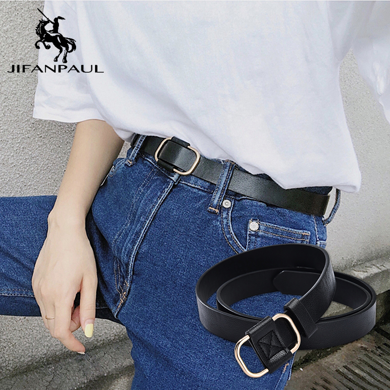 JIFANPAUL Ladies Luxury Brand Retro Belt New Hollow Fashion Alloy Pin Buckle With Student Jeans Punk Leather Belt Free Shipping