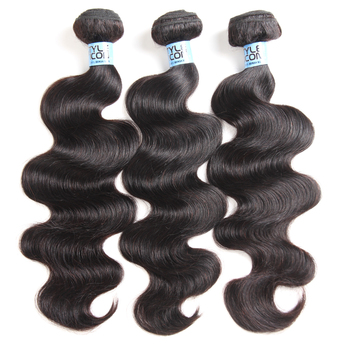 Styleicon Body Wave Human Hair Bundles Remy Hair 3 Bundle Deal Peruvian Hair Extension 30Inch Bundles Natural Color Hair Bundles image