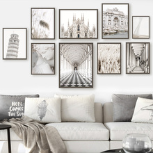 Reed Tower Rome Trevi Fountain Architecture Art Canvas Painting Nordic Posters And Prints Wall Pictures For Living Room Decor
