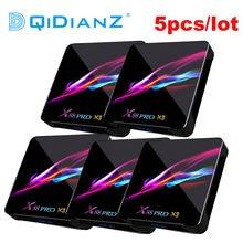 5 unids/lote X88PRO x3 Android 9,0 8K Dual Wifi BT reproductor de medios Play Store App gratuita X88 PRO Amlogic S905X3 Set top BOX PK HK1MAX H96