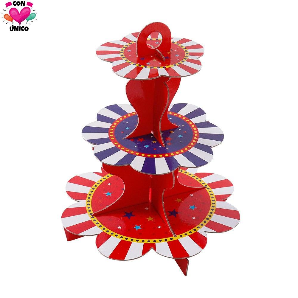 3-Слои стенд кекса Conunico цирковой карнавальный День рождения забавные акробатики клоун Свадебный праздник стенд C3660