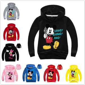 Mickey Minnie Hoodies Shirt For Boys Sweatshirt Baby Girl Costume Children Sport Shirt Sweater Kids Long Sleeve T-shirt Tops Tee