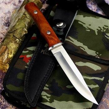 PEGASI  Japanese outdoor straight knife fishing knife jungle hunting knife outdoor sharp tactical knife slicing bone cutter 2