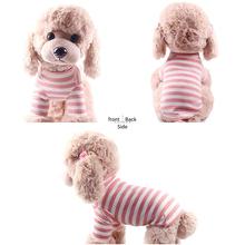 Ubrania dla zwierząt pasiaste ubrania dla kotów delikatne na lato kamizelka ubrania dla kota dla kota kotek koszula Pet T-shirt kostium kota dla małych psów ubrać #15 tanie tanio hifuar 100 bawełna Wszystkie pory roku W paski Dog Clothes Pet Dog Striped Shirts Dog Clothes With Sleeves Dog T-shirt