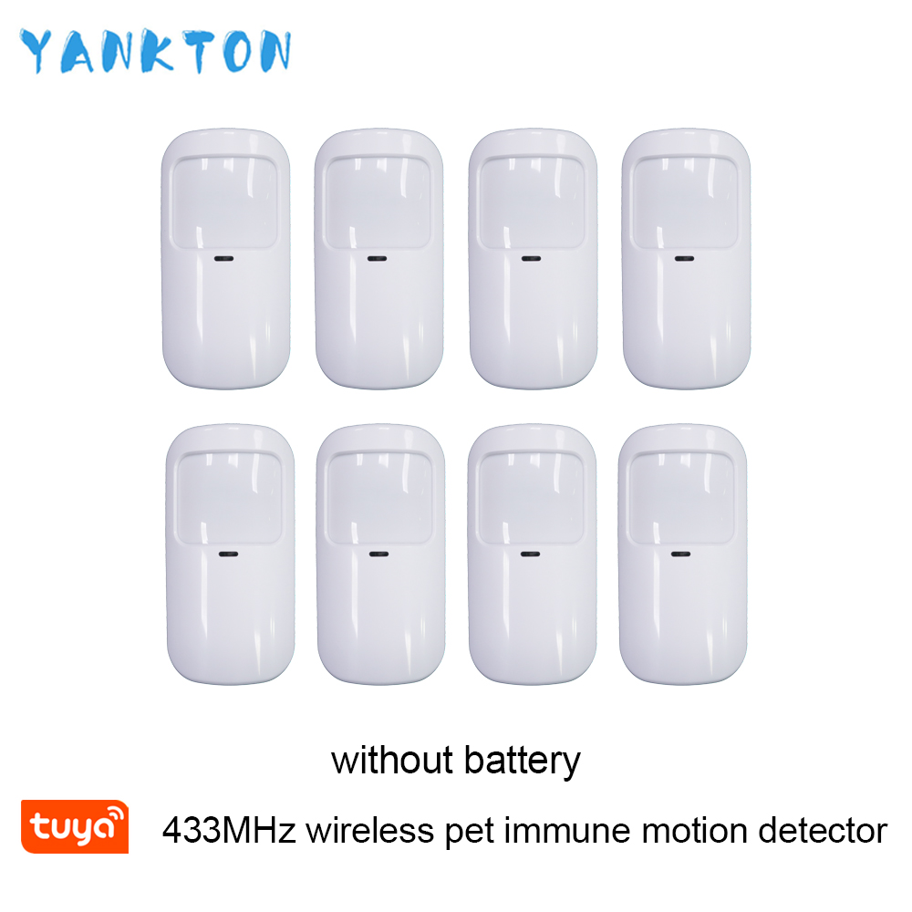 Tuya 433mhz Smart Wireless Wifi PIR Motion Detector Alarm Sensor Infrared Sensor For Home Alarm System Host Pet-immune Detector
