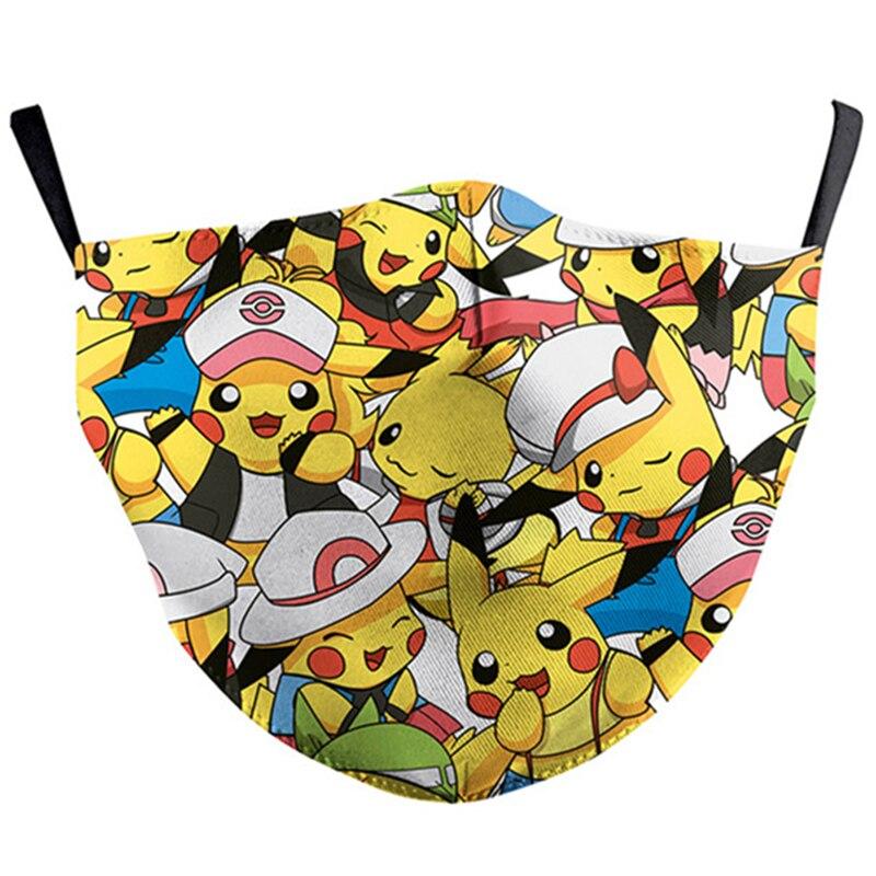 Pokemon Pikachu Tonari No Totoro Face Mask Cosplay Adult Dustproof Masks