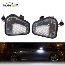 цена на Led White Car Under Side Mirror Puddle Light Lamp Auto Bulb Car Light Source For Vw Volkswagen Passat B7 Cc Eos Jetta Scirocco