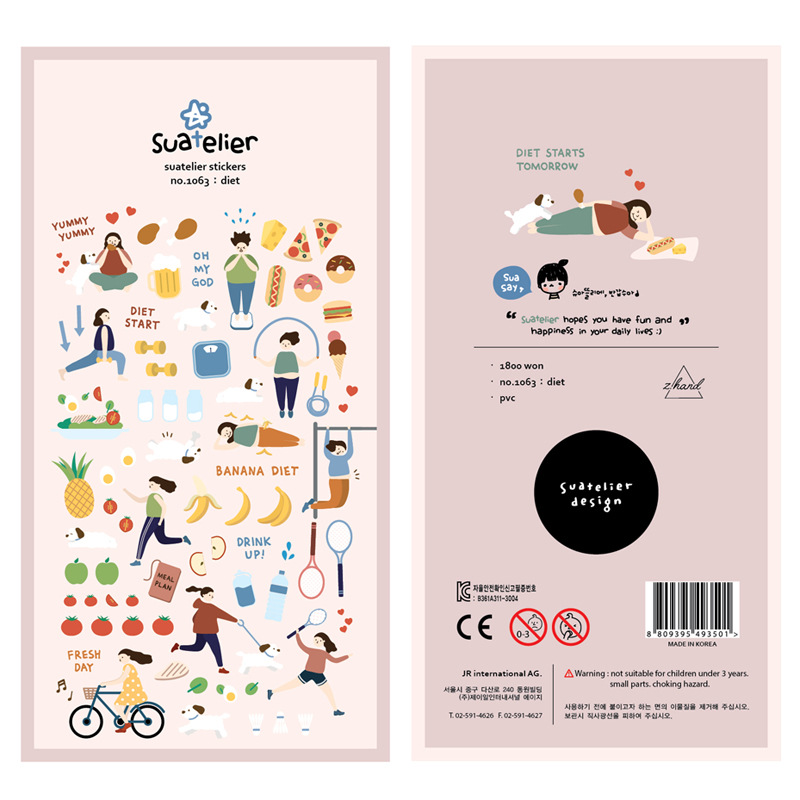 1set /1lot Kawaii Stationery Stickers Diary Lose Weight Decorative Mobile Stickers Scrapbooking DIY Craft Stickers